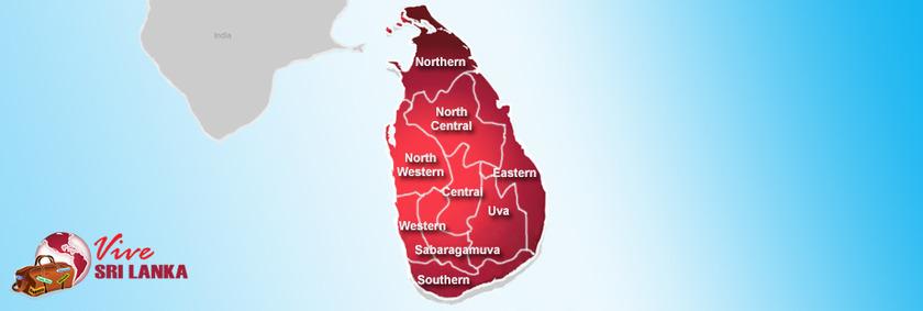Sri Lanka Urlaub | Verwaltungsgliederung