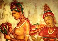 Sri Lanka Urlaub   Sigiriya Paintings